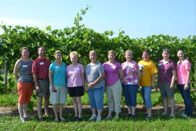 Pictured right: Sangamon County teacher group (left-right) Carrie Winkelmann, Jim Birge, Julie Eggold, Janet Hoch, Mickie LaFata, Nadine Kraft, Kathy Burshears, Edie Wolf, Laura Small, & Ashley Buetke
