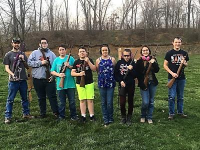 Participants at the 4-H Rifle Sessions held in April