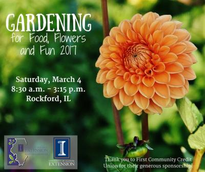 Gardening for Food  Flowers and Fun 2017