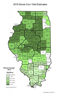 IL Corn Yield Map