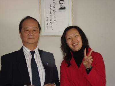 Sanda University: Vice President Jin and Pauline