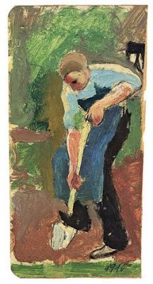256px-August Macke Gartenarbeiter