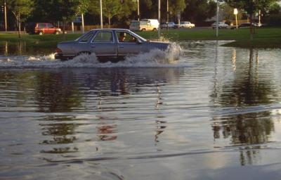 Flood and car