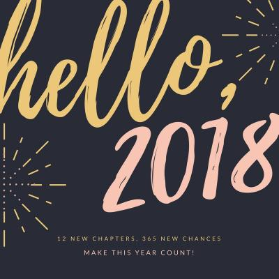 Pink and Gold Simple New Year Social Media Graphics  2