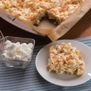 popcorn butterscotch bars