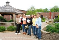 Woodford County Master Gardeners in the Simpson-Bandeko Learning Garden.