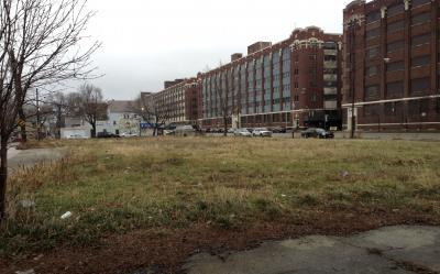 Site of McKinley Park Community Garden before planting.