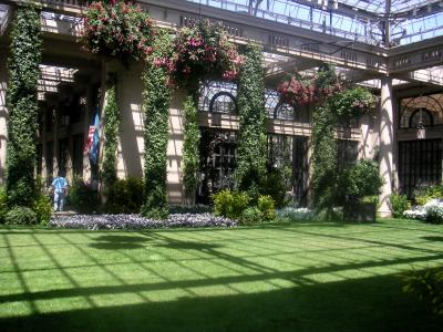 The indoor conservatory at Longwood Gardens.