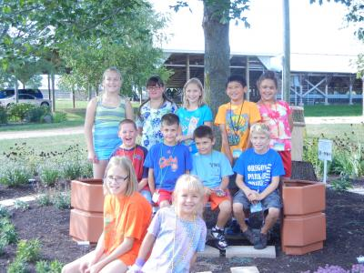 The Junior Master Gardeners at the Peace Garden in Ogle County.