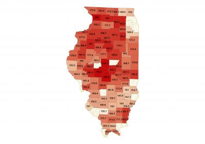 2014 County Corn Yields (NASS)