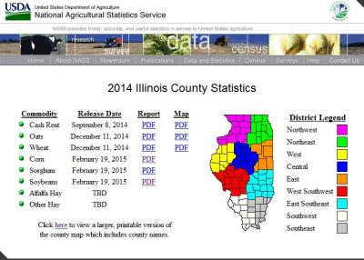 2014 county yields
