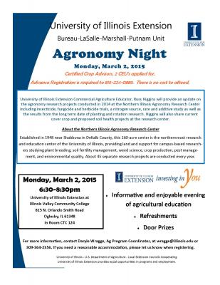 Agronomy Night Flyer March 2 2015 final