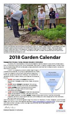 2018 Garden Calendar