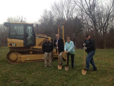 Breaking ground for a new butterfly house at Wildlife Prairie Park in Peoria on December 6, 2012.