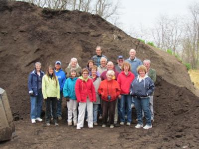 Tour of BetterEarth composting facility in Peoria on March 29, 2012