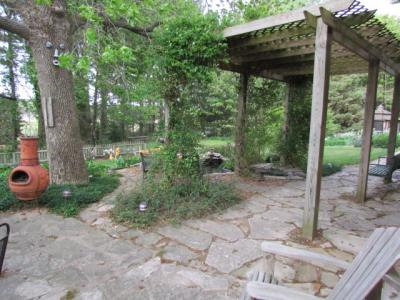 Pergola and water garden on 4-30-12