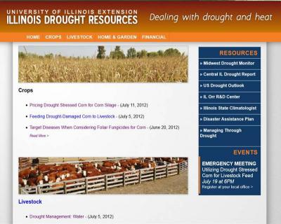 Figure. Check out the new Illinois Drought Resources Website: http://web.extension.illinois.edu/drought/.