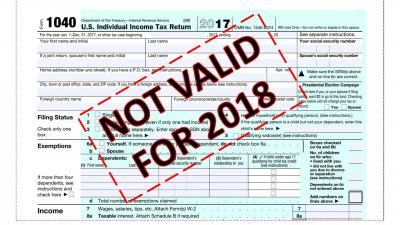 1040 2017 NOT VALID FOR 2018