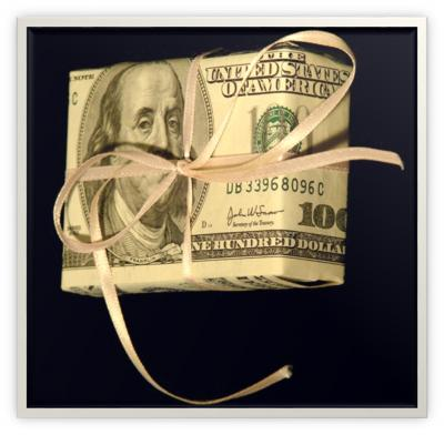 wrapped money