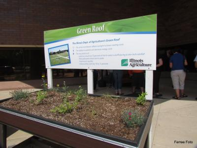 Green roof at Illinois Dept of Ag in Springfield