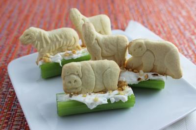 Animal Crackers on a Log rs