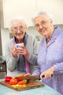 Seniors cook