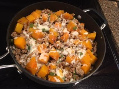 Butternut Squash Ground Turkey Skillet pg
