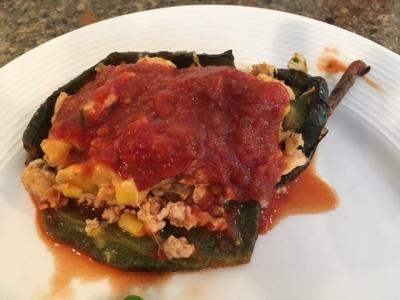 Enchilada Stuffed Poblano