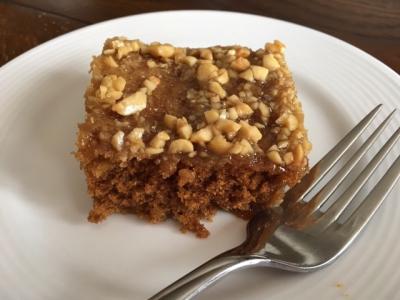 Microwave Caramel Oatmeal Cake