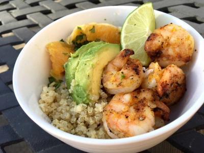 Orange Shrimp Quinoa Bowl