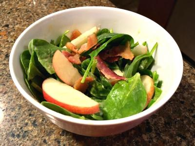 Red Apple Spinach Salad