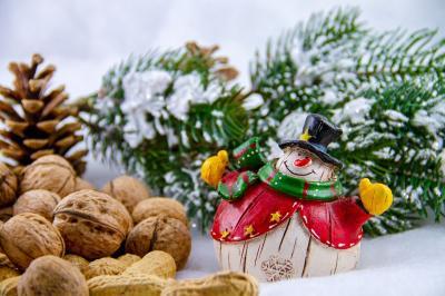 nuts snowman-3853244 1920