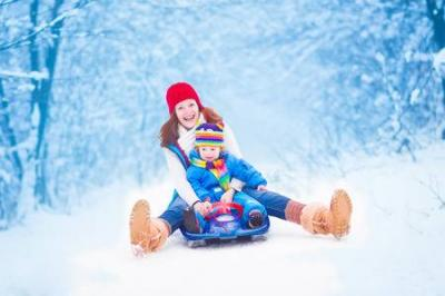 photo of sledding