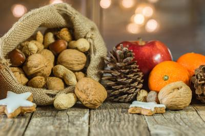 bigstock-Christmas-Food-With-Nuts-In-Sa-259671634