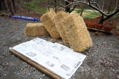 Straw Bale Gardening Day1 148