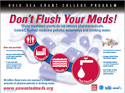 Don't Fush Your Meds Poster